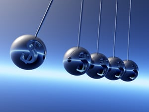 swinging pendulum of steel balls for hypnosis for eating disorders